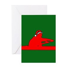 Christmas Rower Greeting Card