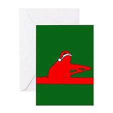 Christmas Rower Greeting Card