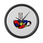 MONDRIAN COFFEE Large Wall Clock