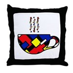 MONDRIAN COFFEE Throw Pillow