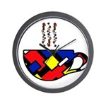MONDRIAN COFFEE Wall Clock