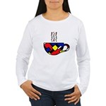 MONDRIAN COFFEE Women's Long Sleeve T-Shirt