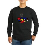 MONDRIAN COFFEE Long Sleeve Dark T-Shirt