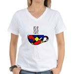 MONDRIAN COFFEE Women's V-Neck T-Shirt