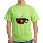 MONDRIAN COFFEE Green T-Shirt