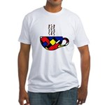 MONDRIAN COFFEE Fitted T-Shirt