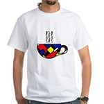 MONDRIAN COFFEE White T-Shirt