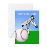 Baseball, Gal's 'Perfect' -Birthday Card