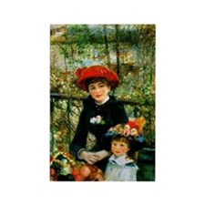 Renoir Two Sisters Rectangle Magnet