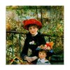 Renoir Two Sisters Tile Coaster