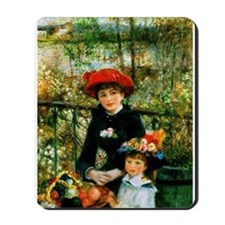 Renoir Two Sisters Mousepad