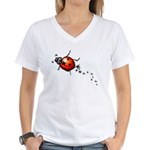 Ladybug Rock Star Women's V-Neck T-Shirt