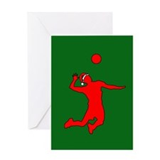 Volleyball Christmas Greeting Card