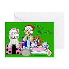 TBG Green Christmas Greeting Card