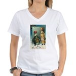 New Year Wishes Women's V-Neck T-Shirt