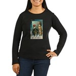New Year Wishes Women's Long Sleeve Dark T-Shirt