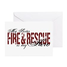 Sister My Hero - Fire & Rescue Greeting Cards (Pk
