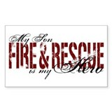 Son My Hero - Fire & Rescue Rectangle Decal