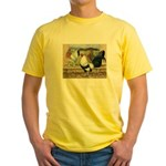 Duckwing Bantam Chickens Yellow T-Shirt