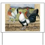 Duckwing Bantam Chickens Yard Sign
