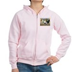 Duckwing Bantam Chickens Women's Zip Hoodie