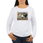 Duckwing Bantam Chickens Women's Long Sleeve T-Shi