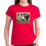Duckwing Bantam Chickens Women's Dark T-Shirt