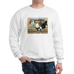 Duckwing Bantam Chickens Sweatshirt