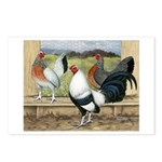 Duckwing Bantam Chickens Postcards (Package of 8)