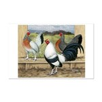 Duckwing Bantam Chickens Mini Poster Print