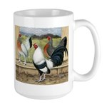 Duckwing Bantam Chickens Large Mug