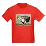 Duckwing Bantam Chickens Kids Dark T-Shirt