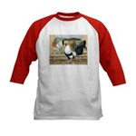 Duckwing Bantam Chickens Kids Baseball Jersey
