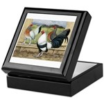 Duckwing Bantam Chickens Keepsake Box