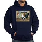 Duckwing Bantam Chickens Hoodie (dark)