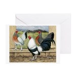 Duckwing Bantam Chickens Greeting Cards (Pk of 20)