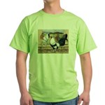 Duckwing Bantam Chickens Green T-Shirt