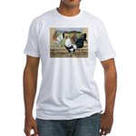 Duckwing Bantam Chickens Fitted T-Shirt