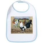 Duckwing Bantam Chickens Bib