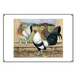 Duckwing Bantam Chickens Banner