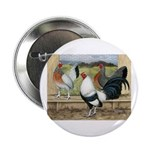 "Duckwing Bantam Chickens 2.25"" Button"