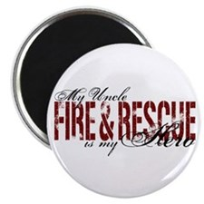 Uncle My Hero - Fire & Rescue Magnet