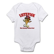 Lutefisk the dried codfish Infant Bodysuit