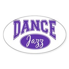 Jazz Dance Oval Sticker (10 pk)