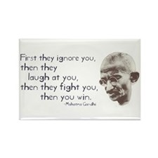 "Gandhi Quote - ""First they ig Rectangle Magnet"