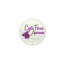 CF Awareness 1 Butterfly 2 Mini Button (100 pack)