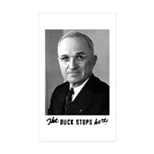 The Buck Stops Here! Rectangle Sticker 10 pk)