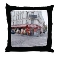 Cool Paris shopping Throw Pillow