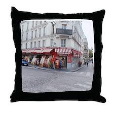 Unique Paris shopping Throw Pillow