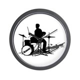 Drummer Drumming Wall Clock